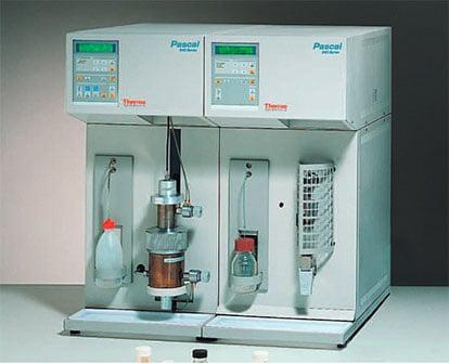 Pascal Evo mercury intrusion porosimeter range